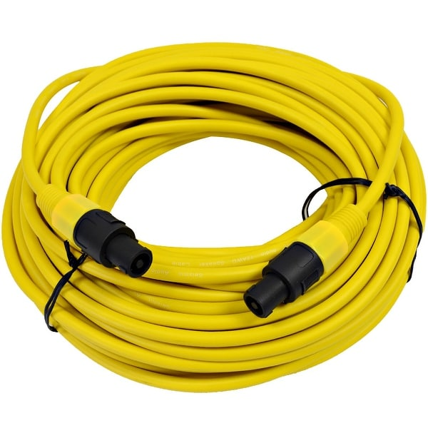 SEISMIC AUDIO 12 Gauge 100 Foot Yellow Speakon to Speakon Speaker Cable 100' -