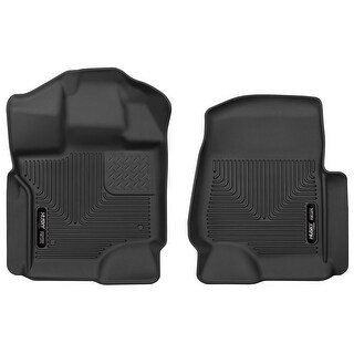 Husky X-act Contour 2015-2016 Ford F-150 SuperCrew/SuperCab Black Front Floor Mats/Liners