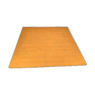 Rectangular Area Rug 5' x 3' Yellow Cotton