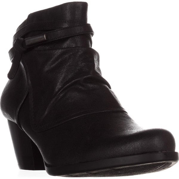 BareTraps Rhapsody Cross Strap Ankle Boots, Black
