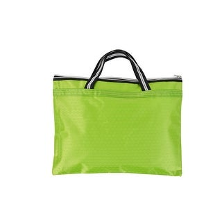 Nylon Hexagon Pattern A4 File Bussiness Hand Bag Tote Holder Carrier Green