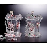 """Pack of 4 Icy Crystal Decorative Christmas Candy House Jars 7.3"""" - CLEAR"""