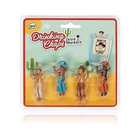 Cowboy Chaps Cocktail/Wine Drink Markers, Set of 4 - Multi