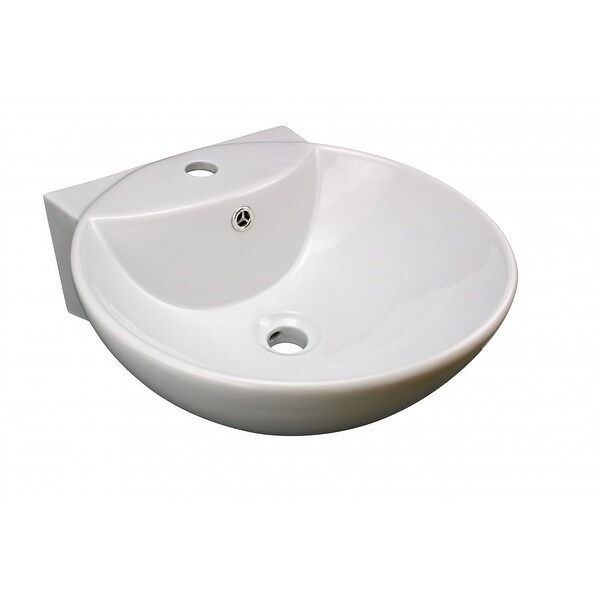 White Wall-Mount Small Sink Easy Clean and Install Scratch and Stain Resistant