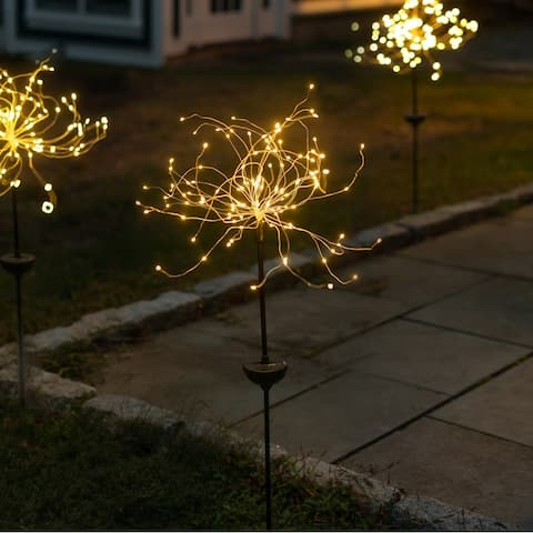 Solar LED Firework Garden Stake Light