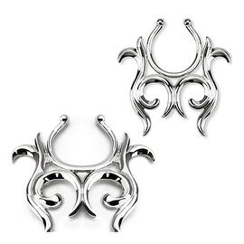 Tribal Design Clip On Nipple Ring (Sold Individually)