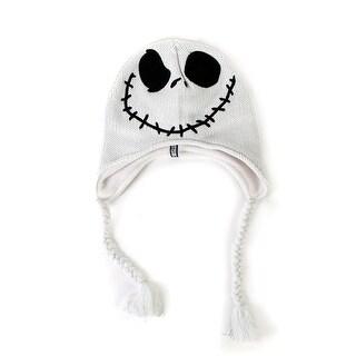 The Nightmare Before Christmas Jack Skellington Peruvian Felt White Knit Hat