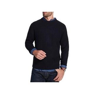 Weatherproof Mens Crewneck Sweater Long Sleeves Textured