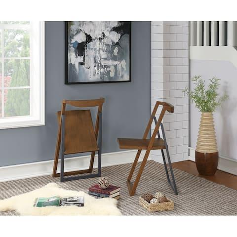 Boraam Sydney Chestnut Brown Folding Chair Set of 2