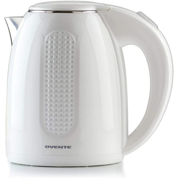 Shop Black Friday Deals On Ovente Electric Hot Water Kettle 1 7 Liter Bpa Free Kd64 Series Overstock 23177773 White