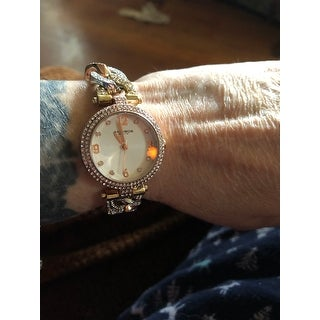 Akribos XXIV Women's Crystal-Accented Swiss Quartz Bracelet Watch