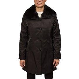 Hilary Radley Women's Jacket with Genuine Fur Trim