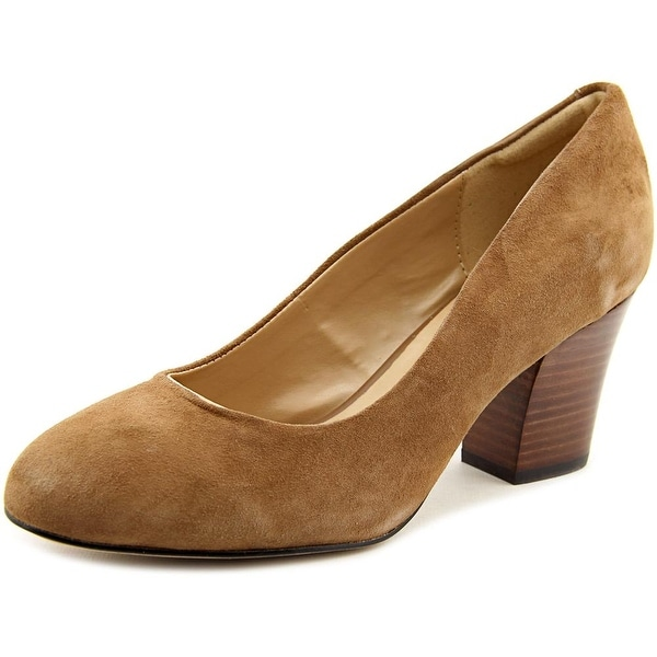 Isola Emmalee Women Round Toe Suede Brown Heels