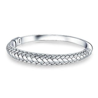 Bling Jewelry Braided Style Stackable Bangle Bracelet 925 Sterling Silver