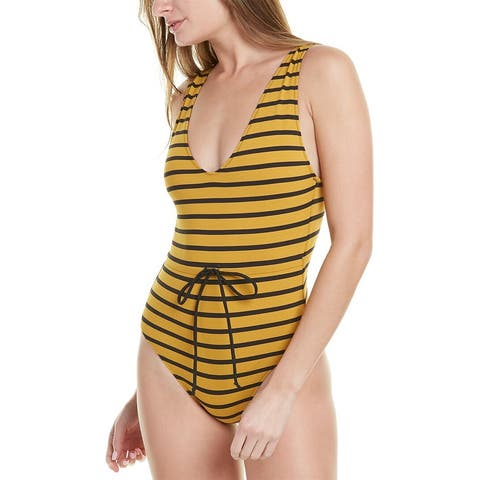 Solid & Striped Striped Tank One-Piece
