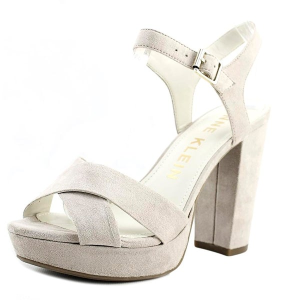 2703d554d84d Shop Anne Klein Lalima Women Open Toe Synthetic Gray Platform Heel ...