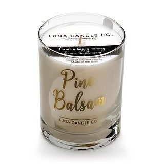 Fresh, Pine Balsam Scented Jar Candle,Natural Soy Wax with Eucalyptus