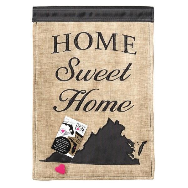 "Beige and Brown HOME Sweet Home Virginia Rectangular Garden Flag 18"" x 13"" - N/A"