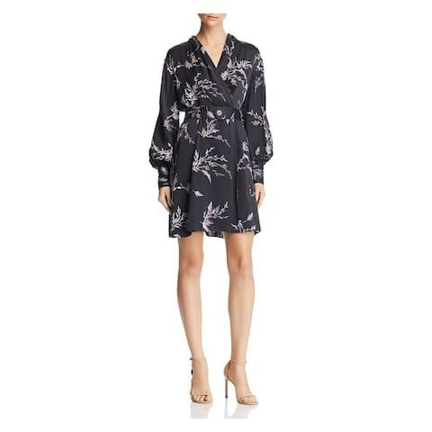 EQUIPMENT FEMME Black Long Sleeve Mini Dress 0