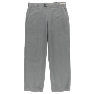 Perry Ellis Portfolio Mens Dress Pants Linen Blend Classic Fit
