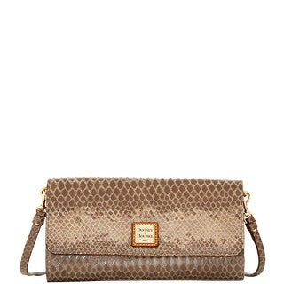 Dooney & Bourke Snake Crossbody Clutch (Introduced by Dooney & Bourke at $198 in Jul 2016) - Grey