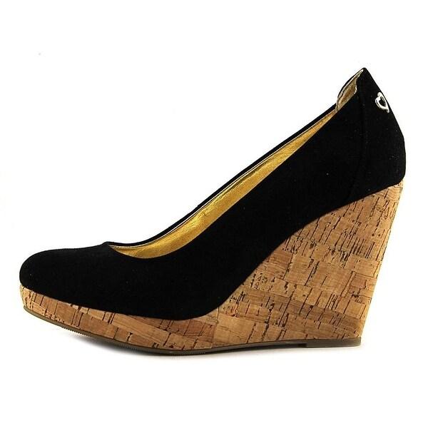 Thalia Sodi Womens Miaa Closed Toe Wedge Pumps, Black, Size 7.0