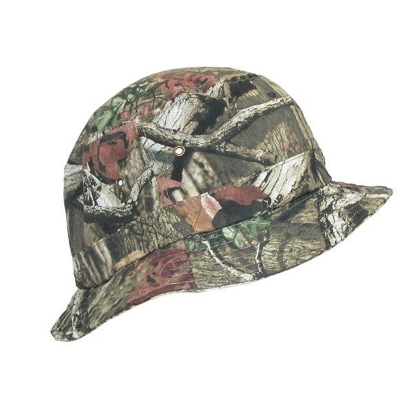 Dorfman Pacific Men's Cotton Camo Fishing Sun Bucket Hat