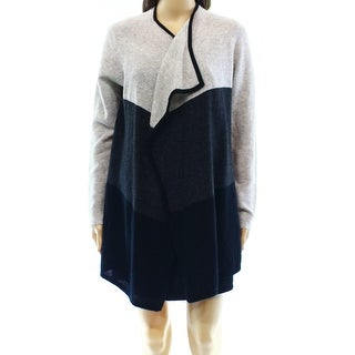 Charter Club NEW Gray Colorblock Small S Cardigan Cashmere Sweater