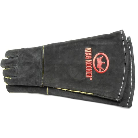 """King Kooker 2015GB Outdoor Leather Cooking Gloves, 16"""""""