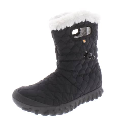 Bogs Womens BMOC Quilt Winter Boots Pull On Cold Weather
