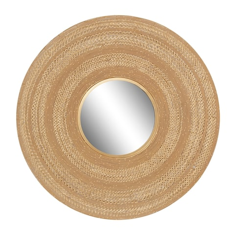 "Large Gold Textured Metal Wall Mirror, 40"" X 40"" - 40 x 3 x 40Round"