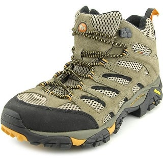 Merrell Moab Mid Men W Round Toe Suede Tan Hiking Shoe