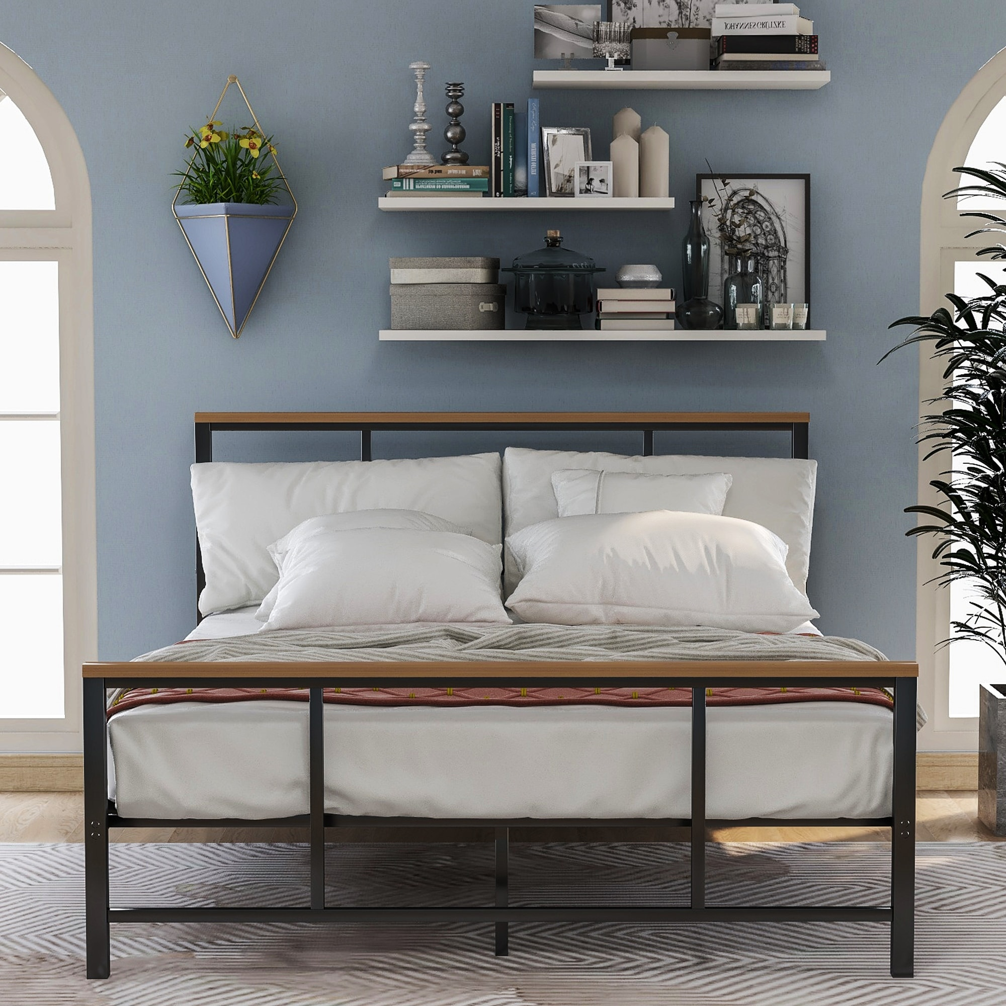 Decorating Bedrooms With Metal Beds  from ak1.ostkcdn.com