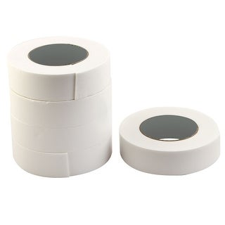 Home Sponge Strong Double Sided Sticky Adhesive Tape White 3.6cm x 4.6M 5 Rolls