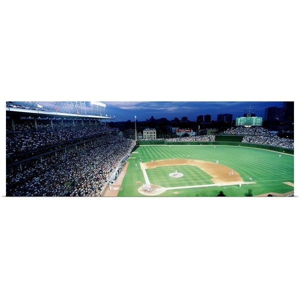 Poster Print entitled Illinois, Chicago, Cubs, baseball - Multi-color