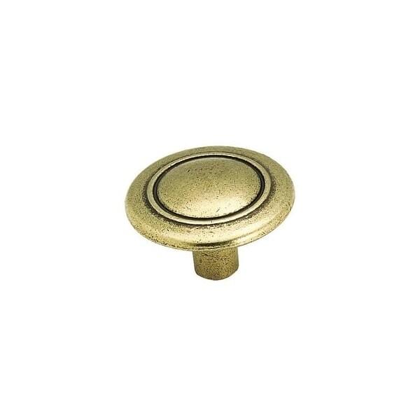 Amerock 256 Allison Value Hardware 1-1/4 Inch Diameter Mushroom Cabinet Knob - light brass
