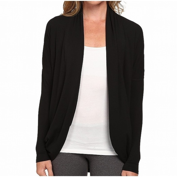 057c46828fce Shop Lucy Black Women s Size Large L Performance Open-Front Cardigan - Free  Shipping On Orders Over  45 - Overstock - 21952034