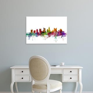 Easy Art Prints Michael Tompsett's 'Columbus Ohio Skyline' Premium Canvas Art