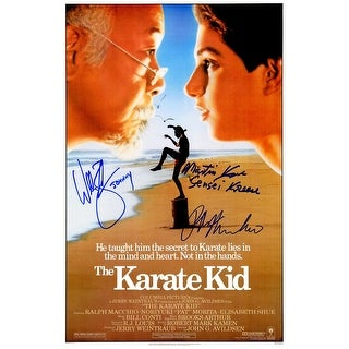 Ralph Macchio William Zabka Martin Kove Cast The Karate Kid 11x17 Movie Poster wJohnny Sensei Kree