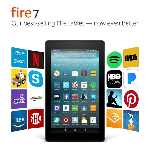 """Amazon Fire 7 Tablet with Alexa, 7"""" Display, 8 GB, Black - with Special Offers"""