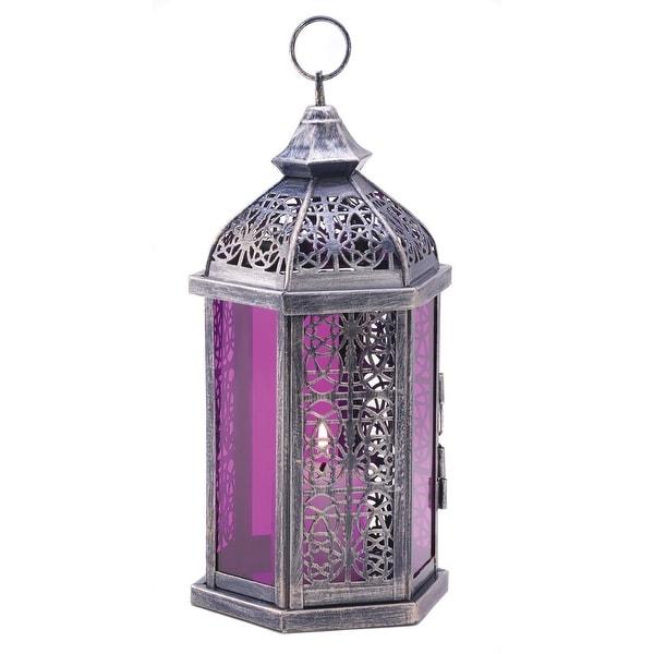 Modern Enchanted Amethyst Candle Lamp
