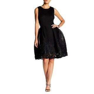 Issue New York Mesh Sleeveless Scuba Dress - xs
