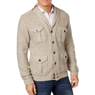 Weatherproof Vintage NEW Beige Mens Size Medium M Cardigan Sweater