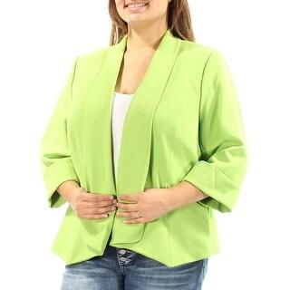 KASPER $67 Womens 1182 Green Suit Wear To Work Jacket 18W Plus B+B