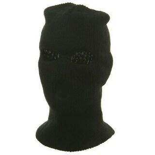 Ski Mask / Tri Hole - Black W11S14D