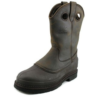 "Georgia Boot 12"" Muddog Men W Round Toe Leather Brown Work Boot"