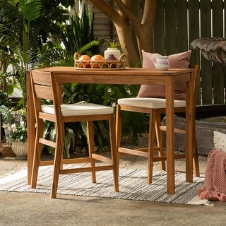 Link to 3-Piece Acacia Counter Height Dining Set by Havenside Home Similar Items in Patio Furniture