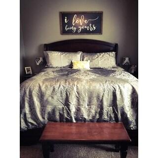 Beautyrest Chacenay Pewter 4 Piece Comforter Set
