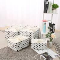 Foldable Fabric Storage Basket Bin Toy Clothing Cube with Drawstring Closure