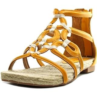 Adrienne Vittadini Pablic Open Toe Leather Gladiator Sandal